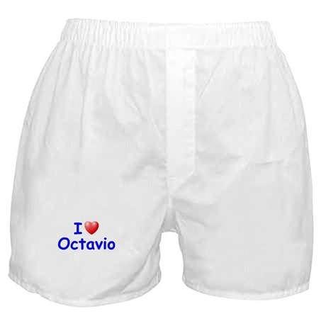 I Love Octavio (Blue) Boxer Shorts