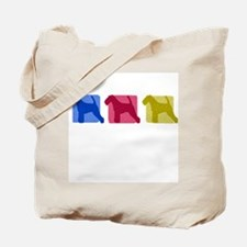 Color Row Welsh Terrier Tote Bag