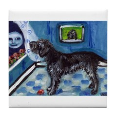 WIREHAIRED POINTING GRIFFON a Tile Coaster