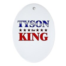 TYSON for king Oval Ornament