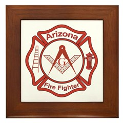 Arizona Masons Fire Fighters Framed Tile