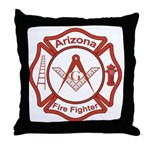 Arizona Masons Fire Fighters Throw Pillow