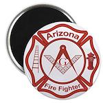 Arizona Masons Fire Fighters Magnet
