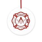Arizona Masons Fire Fighters Ornament (Round)
