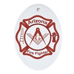 Arizona Masons Fire Fighters Oval Ornament