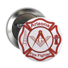 "Arizona Masons Fire Fighters 2.25"" Button (10 pack"