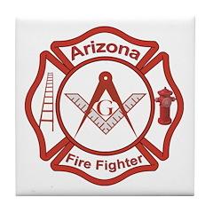 Arizona Masons Fire Fighters Tile Coaster