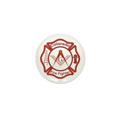Colorado Masons Fire Fighters Mini Button