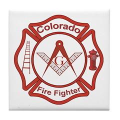 Colorado Masons Fire Fighters Tile Coaster