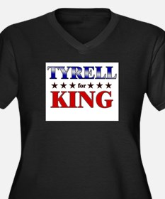 TYRELL for king Women's Plus Size V-Neck Dark T-Sh