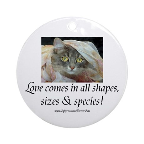 Love Comes (cat) Ornament (Round)