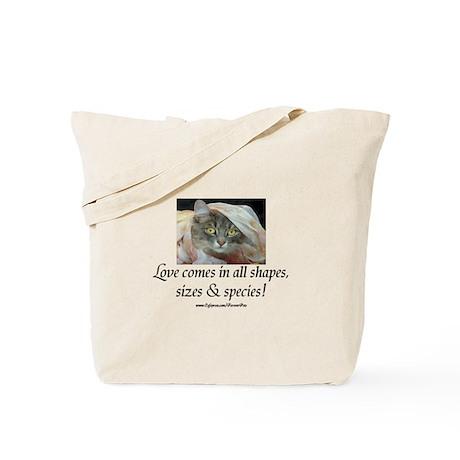 Love Comes (cat) Tote Bag