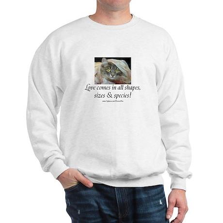 Love Comes (cat) Sweatshirt