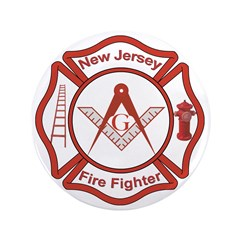 "New Jersey Masons Fire Fighters 3.5"" Button (100 p"