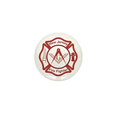 New Jersey Masons Fire Fighters Mini Button (10 pa