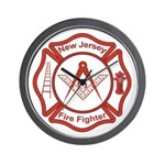 New Jersey Masons Fire Fighters Wall Clock