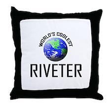 World's Coolest RIVETER Throw Pillow
