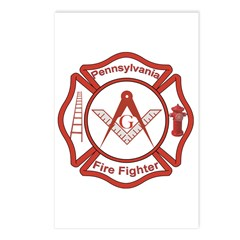 Pennsylvania Masons Fire Fighters Postcards (Packa