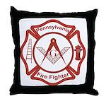 Pennsylvania Masons Fire Fighters Throw Pillow