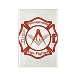 Pennsylvania Masons Fire Fighters Rectangle Magnet