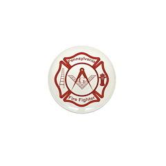 Pennsylvania Masons Fire Fighters Mini Button (100