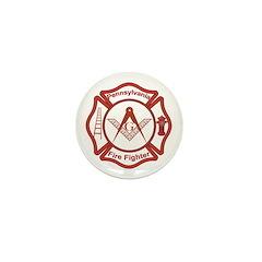 Pennsylvania Masons Fire Fighters Mini Button (10