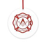 Pennsylvania Masons Fire Fighters Ornament (Round)