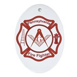 Pennsylvania Masons Fire Fighters Oval Ornament