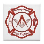 Pennsylvania Masons Fire Fighters Tile Coaster