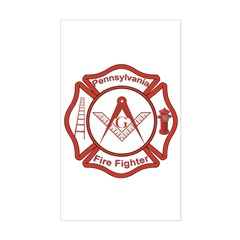 Pennsylvania Masons Fire Fighters Decal
