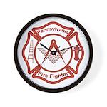 Pennsylvania Masons Fire Fighters Wall Clock