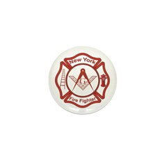 New York Masons Fire Fighters Mini Button (100 pac