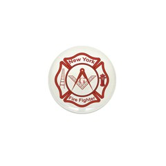 New York Masons Fire Fighters Mini Button