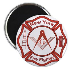 New York Masons Fire Fighters Magnet