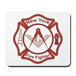 New York Masons Fire Fighters Mousepad