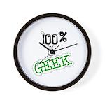 100 % a Geek Wall Clock