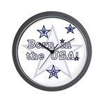 Born in the USA Blue Wall Clock
