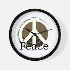 Brick Wall Peace Design Wall Clock