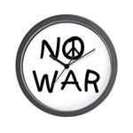 NO WAR Peace Design Wall Clock