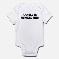 ARNOLD IS NUMERO UNO Onesie