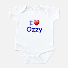 I Love Ozzy (Blue) Infant Bodysuit