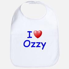 I Love Ozzy (Blue) Bib