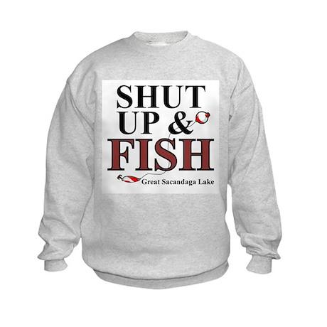 Shut Up & Fish Kids Sweatshirt