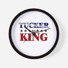 TUCKER for king Wall Clock