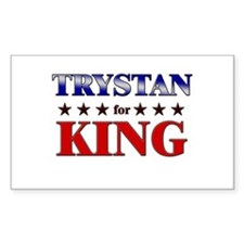 TRYSTAN for king Rectangle Decal