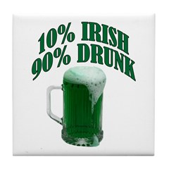 10% Irish - Tile Coaster