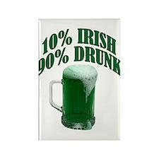 10% Irish - Rectangle Magnet