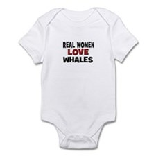 Real Women Love Whales Infant Bodysuit