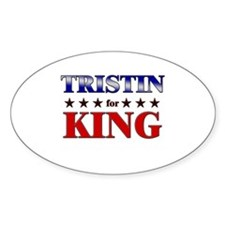TRISTIN for king Oval Decal