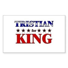 TRISTIAN for king Rectangle Decal